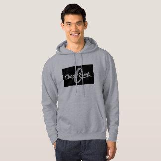 gray mens hooded sweat shirt