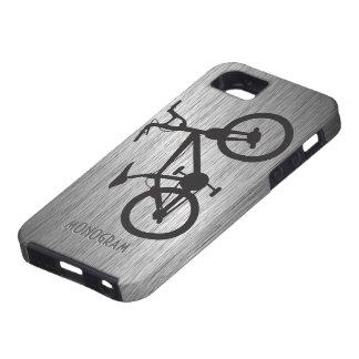 Gray Metallic Look Black Bicycle iPhone 5 Cover