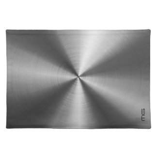 Gray Metallic Stainless Steel Look Place Mat