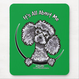 Gray Miniature Toy Poodle IAAM Mouse Mat