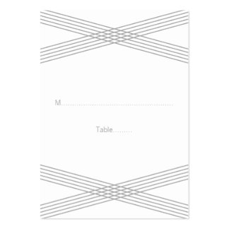 Gray Modern Deco Wedding Place Cards Large Business Cards (Pack Of 100)