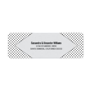 Gray Modern Polka Dots Wedding Return Address Label