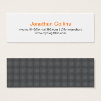 Gray modern texture generic elegant personal mini business card