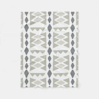 Gray Modern Tribal Pattern   Fleece Blanket