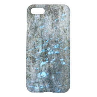 Gray Mortar with Blue Paint Grunge iPhone 7 Case