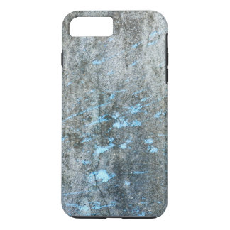 Gray Mortar with Blue Paint Grunge iPhone 7 Plus Case