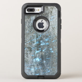Gray Mortar with Blue Paint Grunge OtterBox Defender iPhone 7 Plus Case