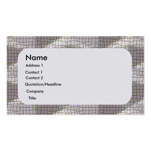 Gray Mosaic Business Card Templates