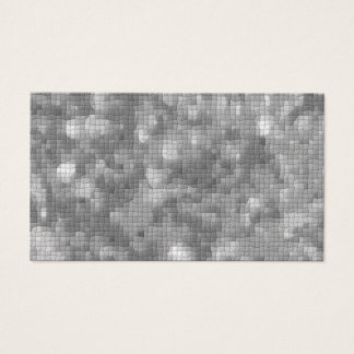 Gray Mosaic Textured Business Cards