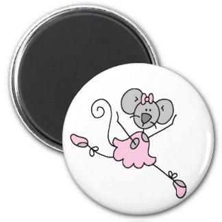 Gray Mouse Ballerina Magnet Refrigerator Magnets