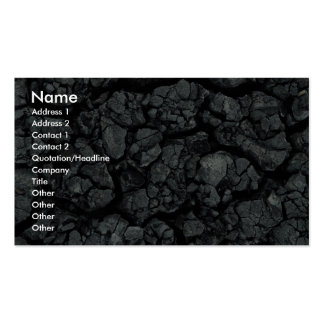 Gray mud with lots of deep cracks business card templates