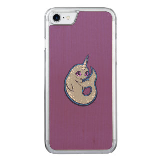 Gray Narwhal Whale With Spots Ink Drawing Design Carved iPhone 7 Case