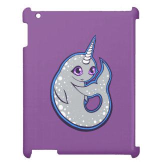 Gray Narwhal Whale With Spots Ink Drawing Design iPad Covers