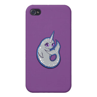 Gray Narwhal Whale With Spots Ink Drawing Design iPhone 4/4S Cases