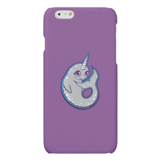 Gray Narwhal Whale With Spots Ink Drawing Design iPhone 6 Plus Case