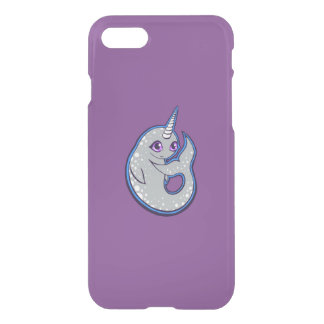 Gray Narwhal Whale With Spots Ink Drawing Design iPhone 7 Case