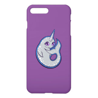 Gray Narwhal Whale With Spots Ink Drawing Design iPhone 7 Plus Case