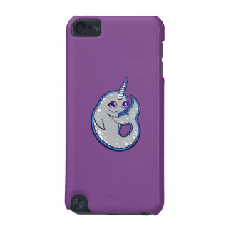Gray Narwhal Whale With Spots Ink Drawing Design iPod Touch (5th Generation) Cover