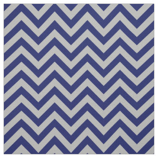 Gray Navy Blue LG Chevron ZigZag Pattern 12I Fabric