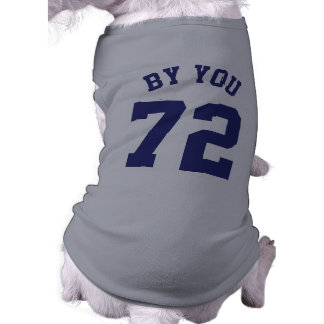 Gray & Navy Blue Pets | Sports Jersey Design Sleeveless Dog Shirt