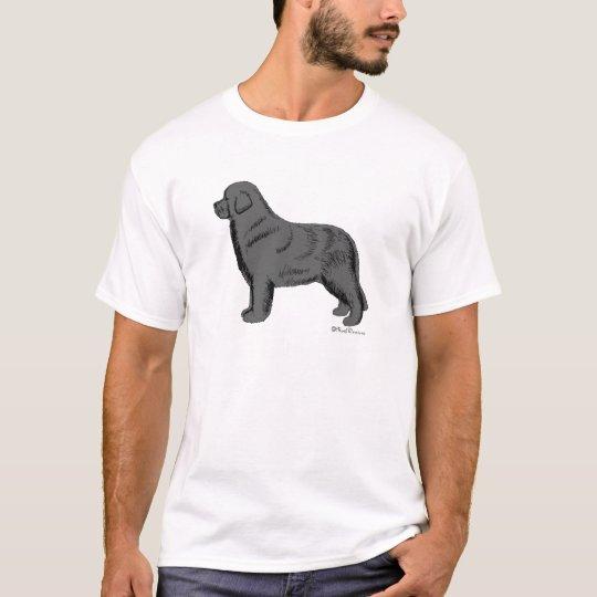 GRAY NEWFOUNDLAND DOG T-Shirt