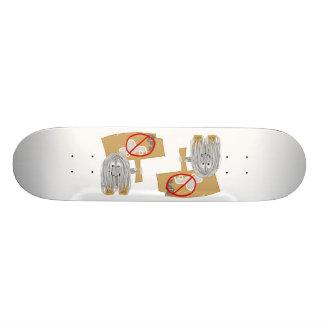 Gray no car pollution skate board deck