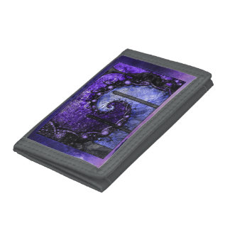 Gray Nylon Fractal Wallet -- Nocturne of Scorpio