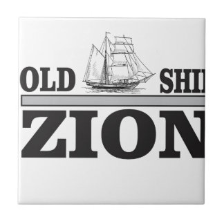 gray old ship zion small square tile