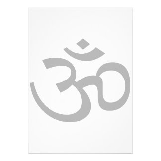 Gray Om or Aum ॐ.png Personalized Announcements