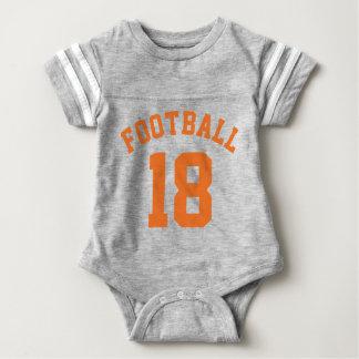 Gray & Orange Baby   Sports Jersey Design T-shirt