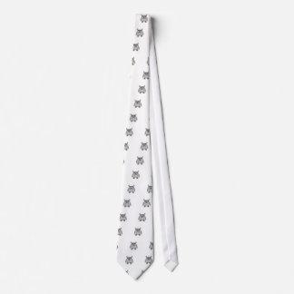 Gray owl tie
