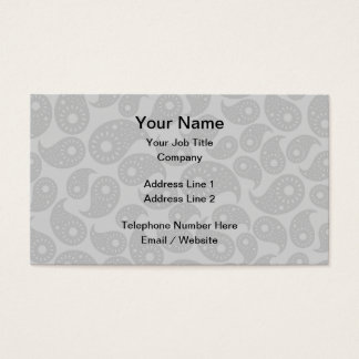 Gray Paisley. Business Card