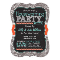 Chalkboard Housewarming Party Card