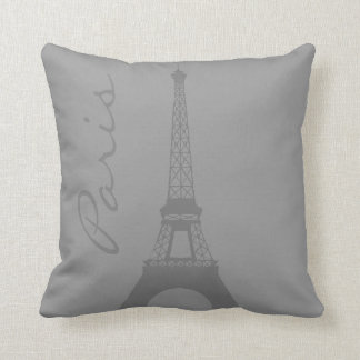 Gray Paris Eiffel Tower Cushion