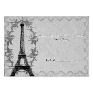 Gray Paris Grunge Reception Seating Card Business Card Templates