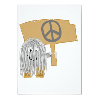 Gray Peace 13 Cm X 18 Cm Invitation Card