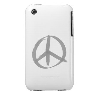 Gray Peace Sign iPhone 3 Case-Mate Case