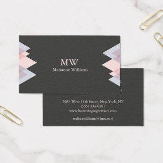 Gray Peach Arrow Women's Professional Business Business Card