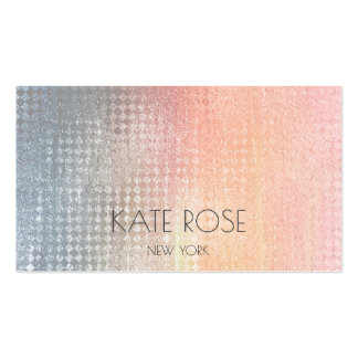 Gray Peach Grungy Ombre Contemporary Pastel Pack Of Standard Business Cards
