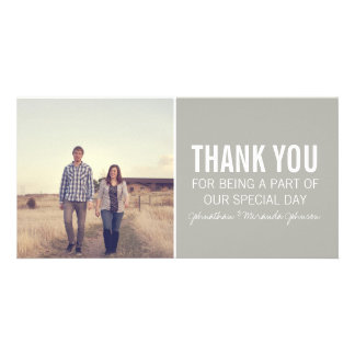 Gray Photo Thank You Cards