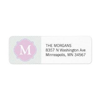 Gray & Pink Modern Chevron Custom Monogram