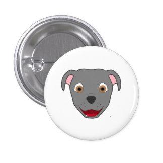 Gray Pitbull 3 Cm Round Badge