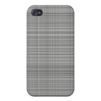 Gray Plaid Case iPhone 4 Cases