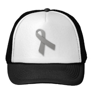 Gray Political Statement Awareness Ribbon Cap