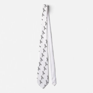 Gray Political Statement Awareness Ribbon Tie