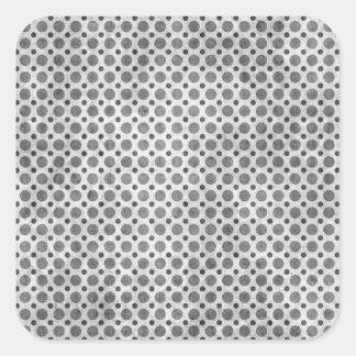 Gray Polka Dot Grunge Sticker