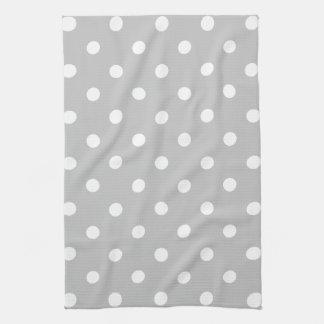 Gray Polka Dot Tea Towel