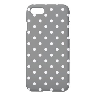 Gray Polka Dots iPhone 8/7 Case