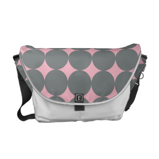 Gray Polka Dots On Pink Vintage Pattern Commuter Bags