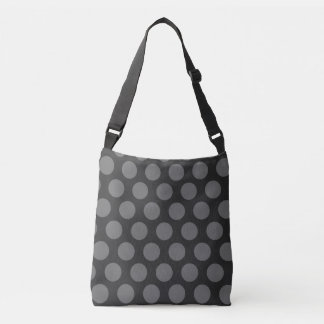 gray polka dots pattern crossbody bag